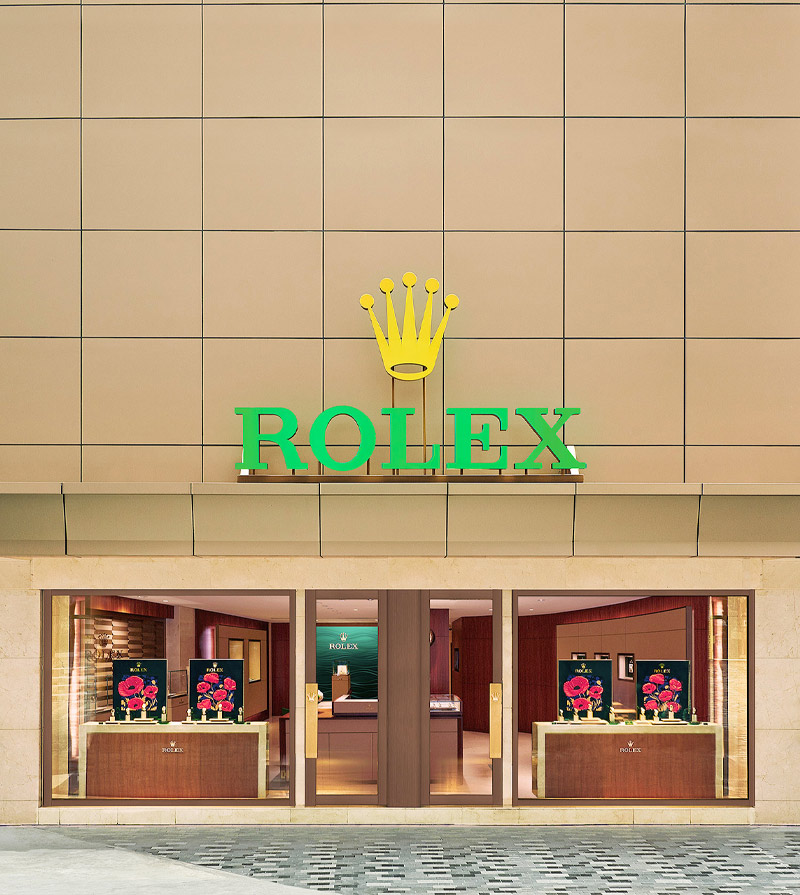 Siam Swiss Rolex Flagship Boutique Entrance with Rolex Crown