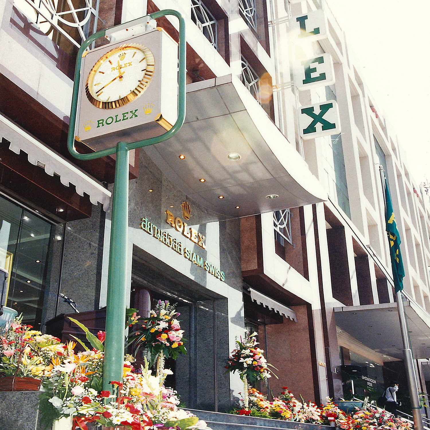 Siam Swiss Silom Rolex Boutique Building with Rolex clock tower